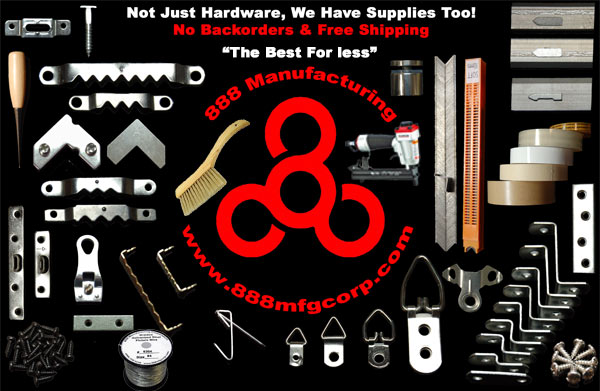 picture frame supplies, picture frame hardware