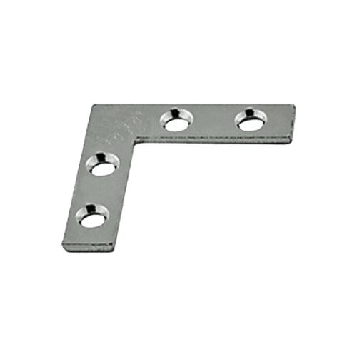 "2/"" Pack of 4 Corner Braces Zinc Plated 1/"" 2.5/"" 1.5/"""